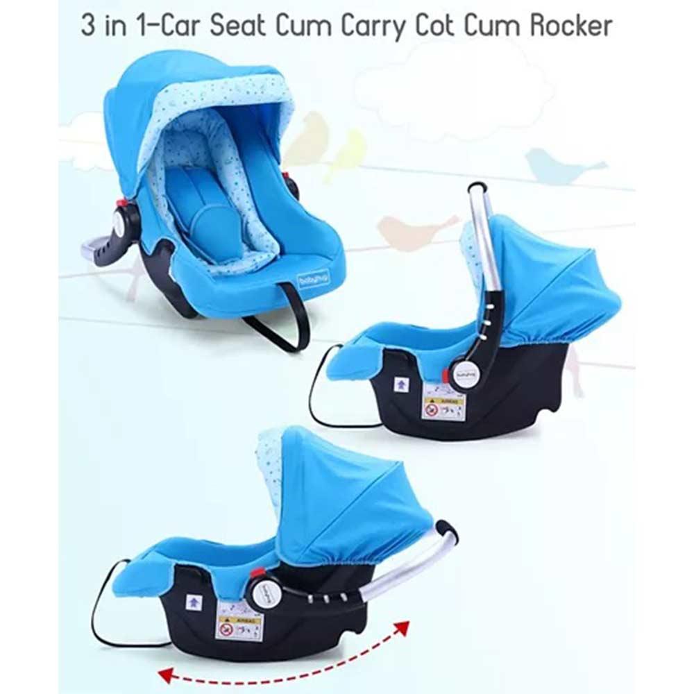 Babyhug Onyx Car Seat Cum Carry Cot With Rocking Base