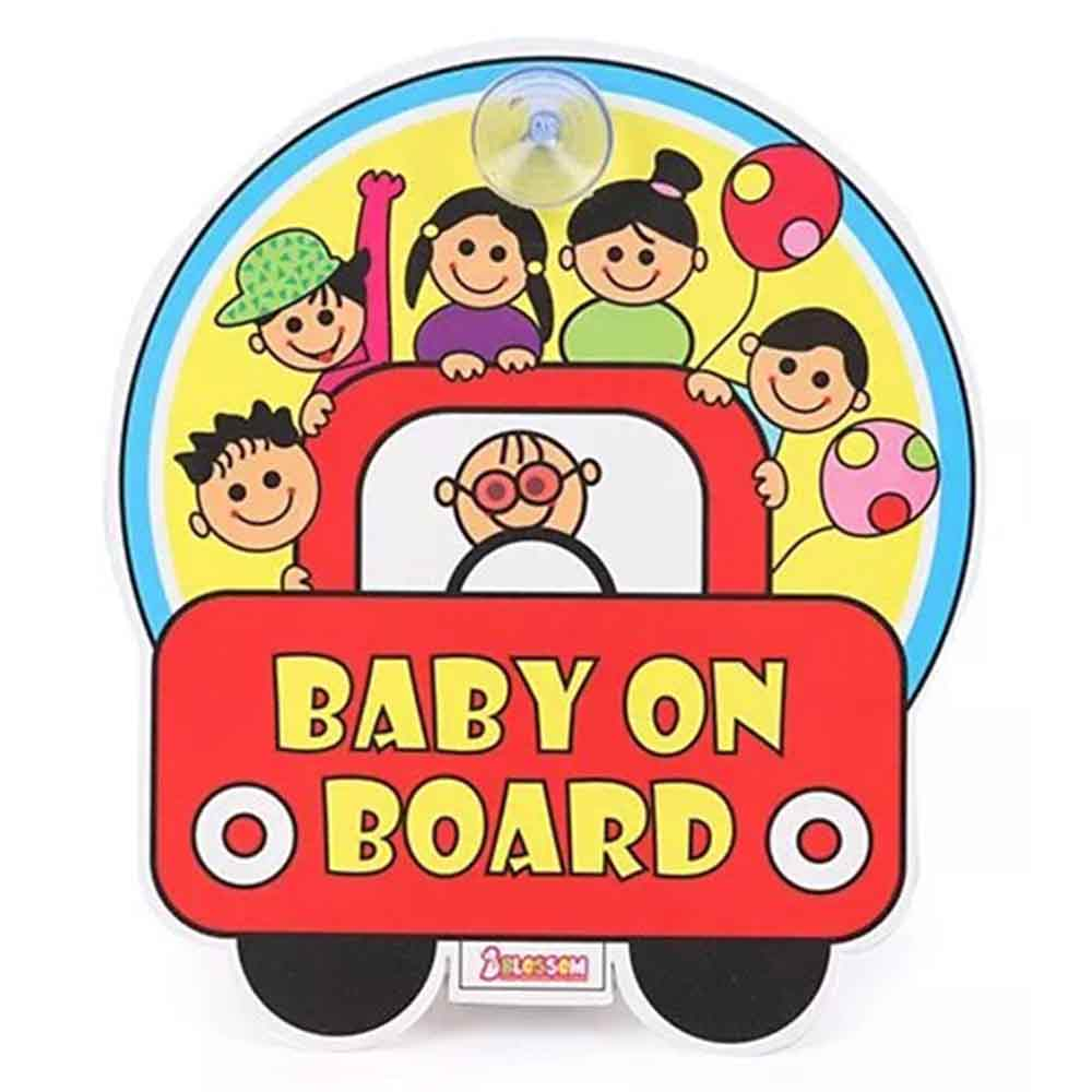 Blossom Child Proofing Baby On Board Sign Board