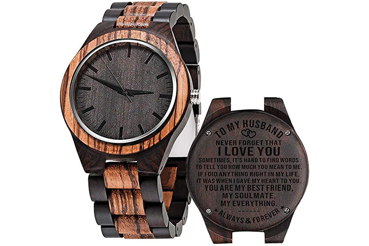 Cosvog Custom Engraved Wooden Watches For Men
