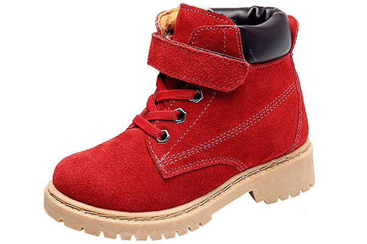 Dadawen Classic Waterproof Leather Winter Boots