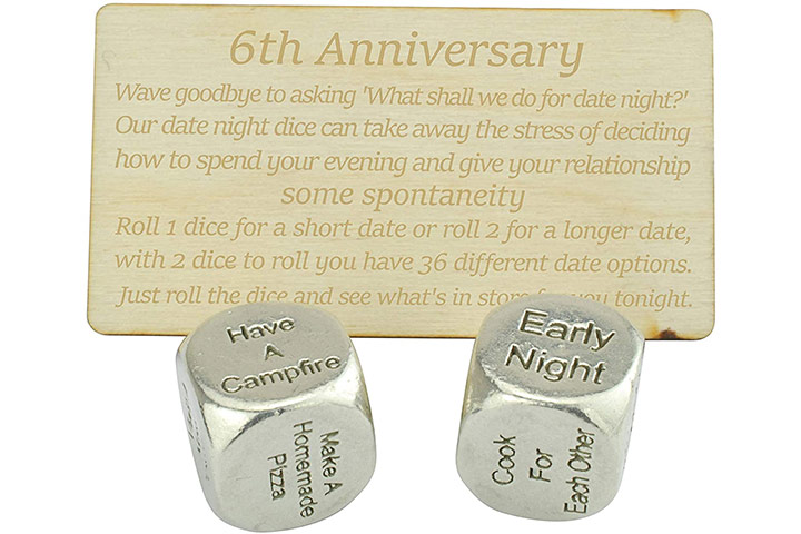 Date Night Dice From Anniversary Gifts
