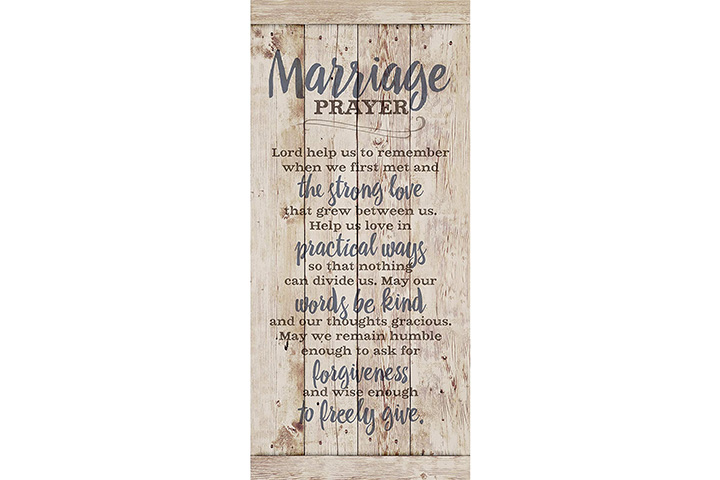 Dexsa Marriage Prayer Wood Plaque