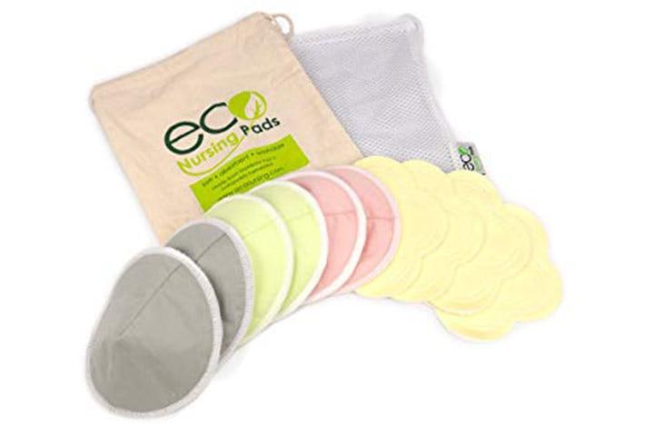EcoNursingPads Contoured Washable Reusable Bamboo Nursing Pads