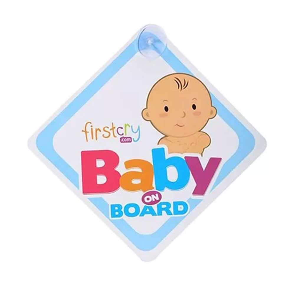 Firstcry Baby On Board Sign With Suction Cup