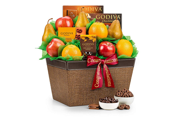 Godiva congratulations gift basket