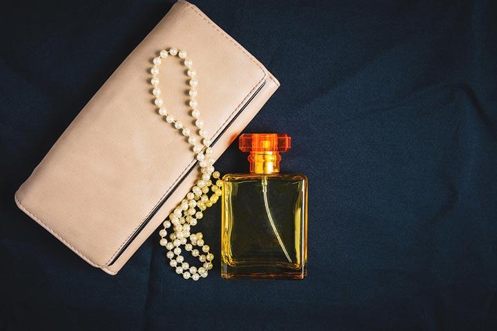 Handbag and perfume