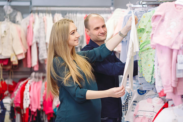 His Eyes Sparkle When He Shops For The Baby