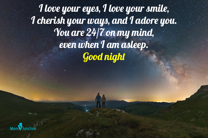 Good night text messages for husband