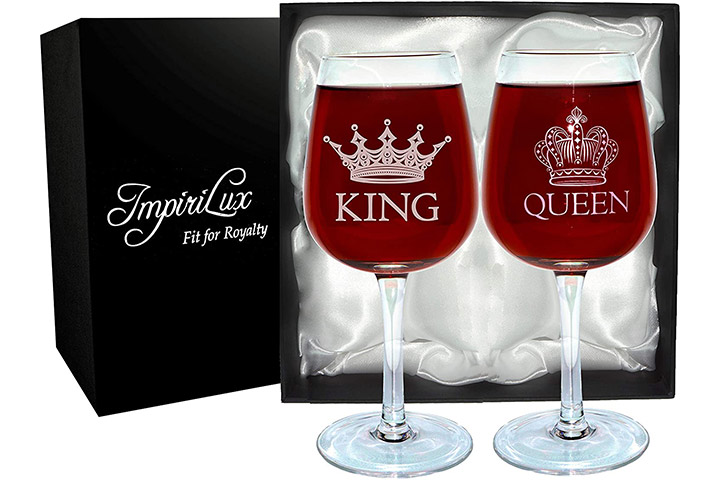 ImpiriLux King And Queen Wine Glasses