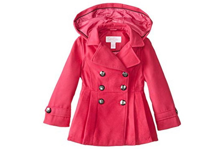 Jessica Simpson hooded peacoat