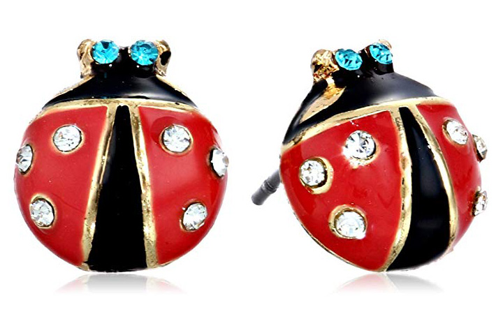 Ladybug studs by Betty Johnson