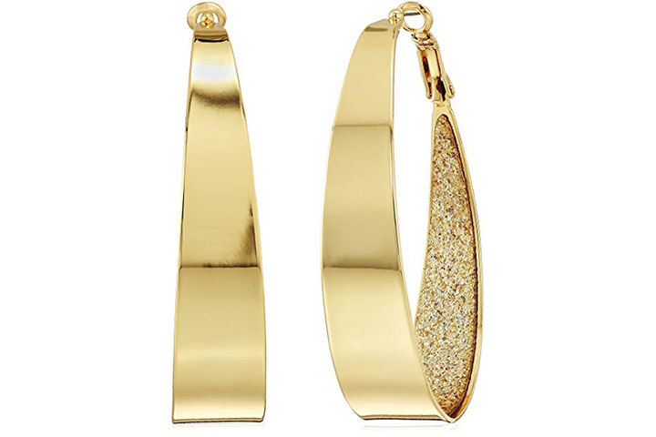 Large glitter hoops by Guess