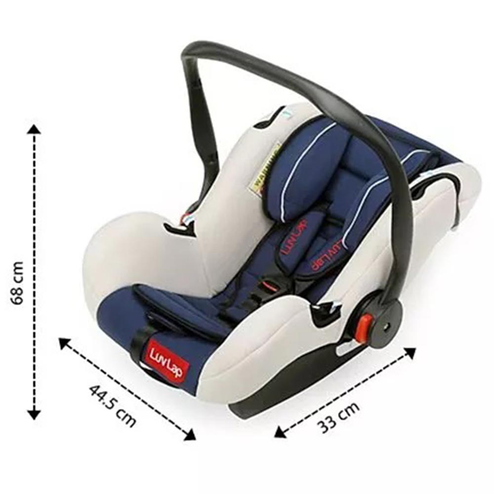 LuvLap Infant Baby Car Seat Cum Carry Cot With Rocker And Canopy-2