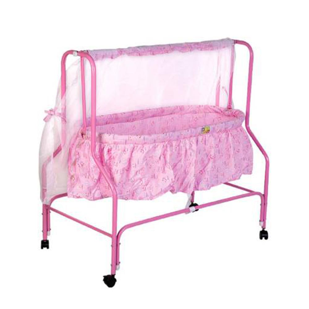 Mee Mee Baby Cradle With Swing And Mosquito Net-1