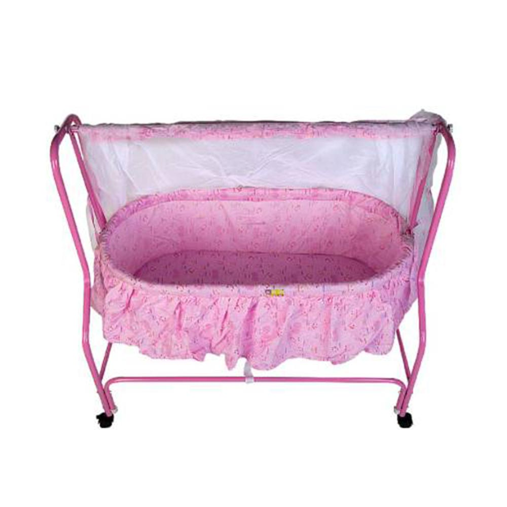 Mee Mee Baby Cradle With Swing And Mosquito Net-2
