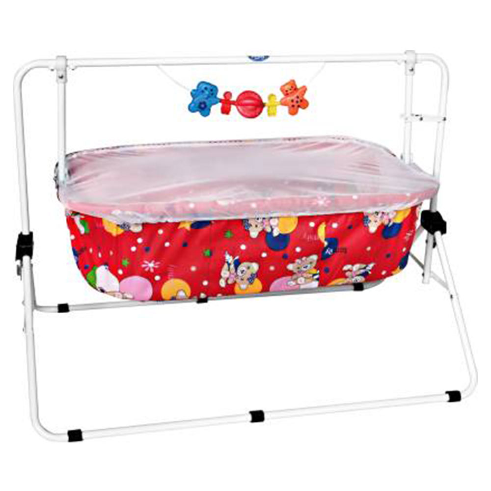 New Natraj Comfy Cradle With Play Toys-2