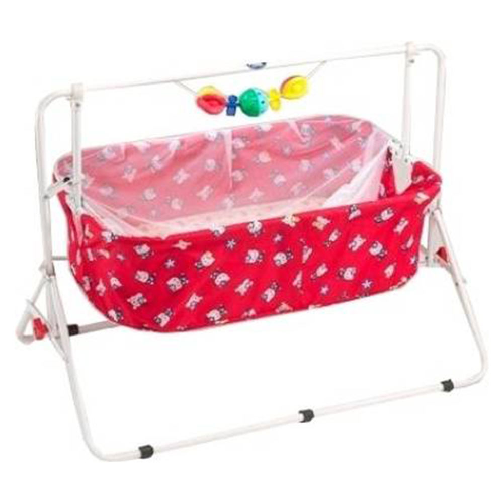 New Natraj Comfy Cradle With Play Toys-3