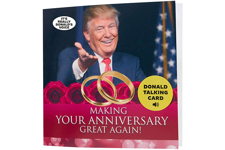 Our Friendly Forest Talking Trump Anniversary Card