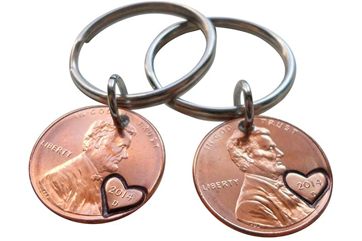 Penny Keychains From JewelryEveryday- Set Of 2