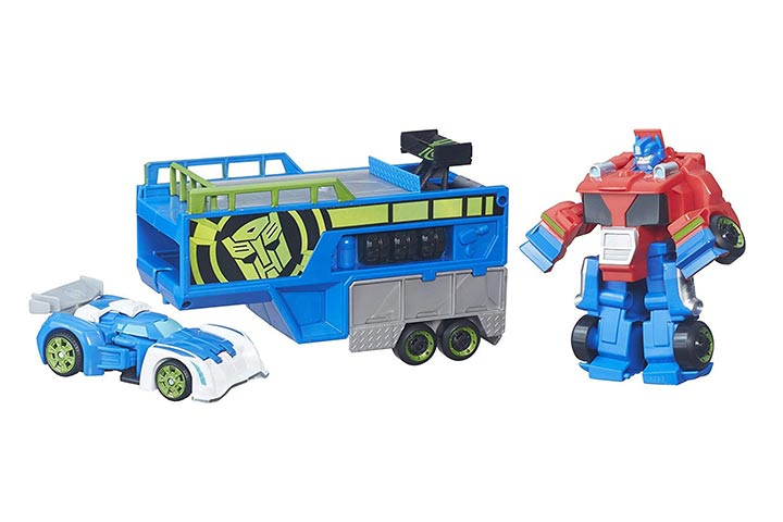 Playskool Heroes Optimus Prime Racing Trailer