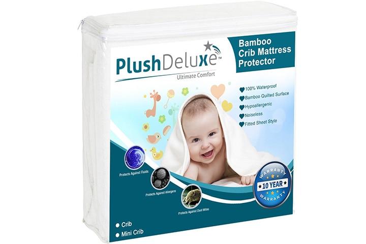 PlushDeluxe Crib Mattress Protector