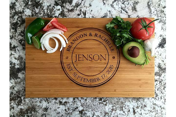 Qualtry Personalized Wood Cutting Board