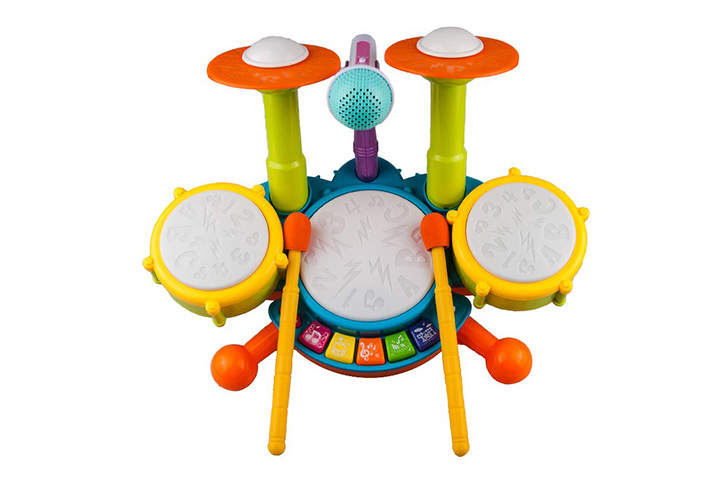 Rabing Kids Drum Set Beats Flash Light Toy