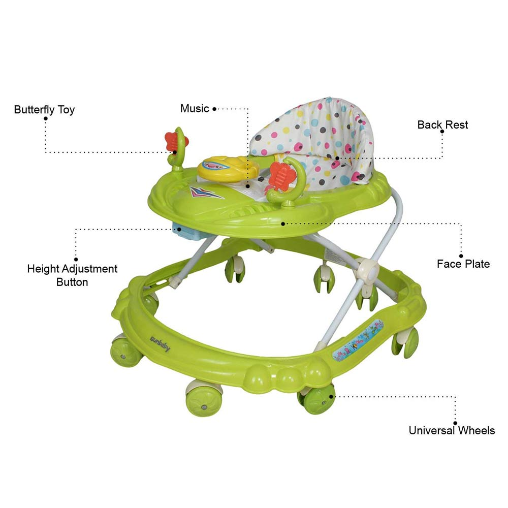 Sunbaby Ride-On Walker With Play Tray-1