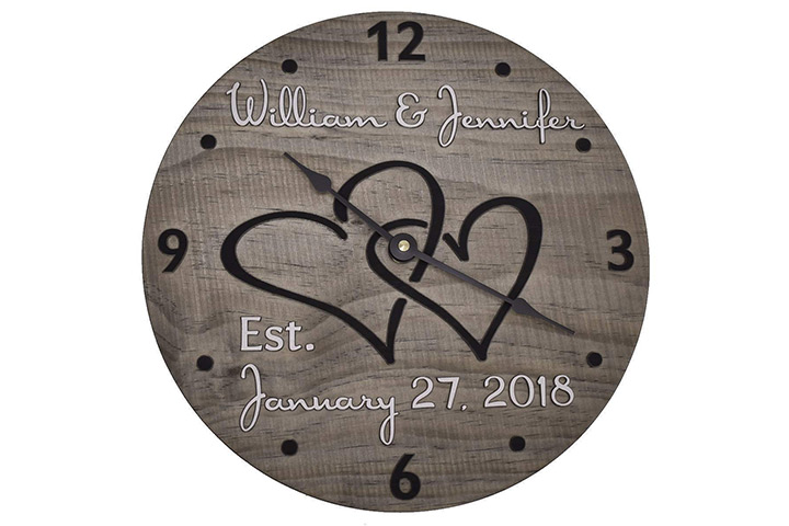 The Wood Clock Shop Personalized Wall Clock