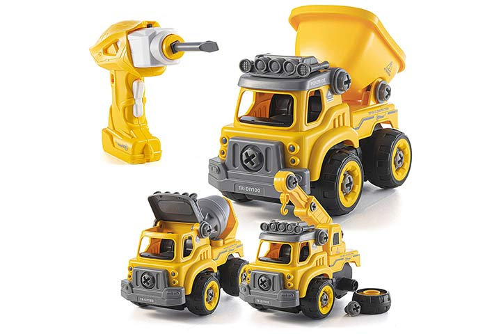 Top Race Three-In-One Construction Truck Take Apart Toy