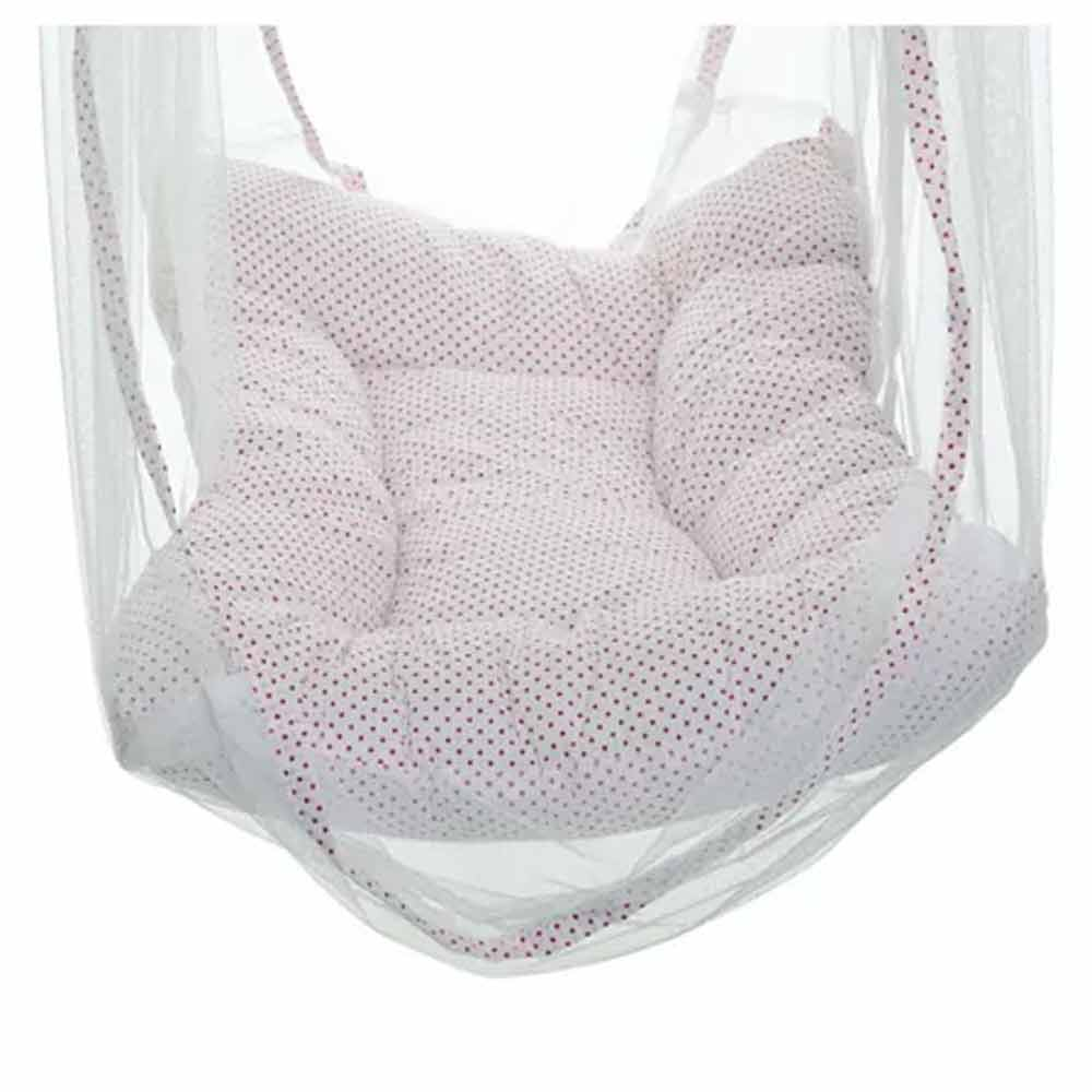 VParents Baby Swing Cradle with Mosquito Net and Spring-1