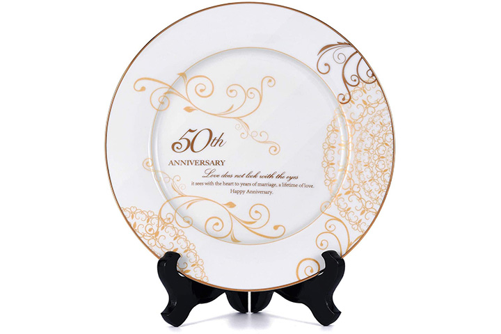 Youin 50th Wedding Anniversary Plate