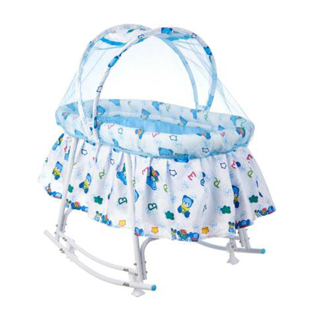 funBaby Cozy Cradle With Mosquito Net & Rocking Base