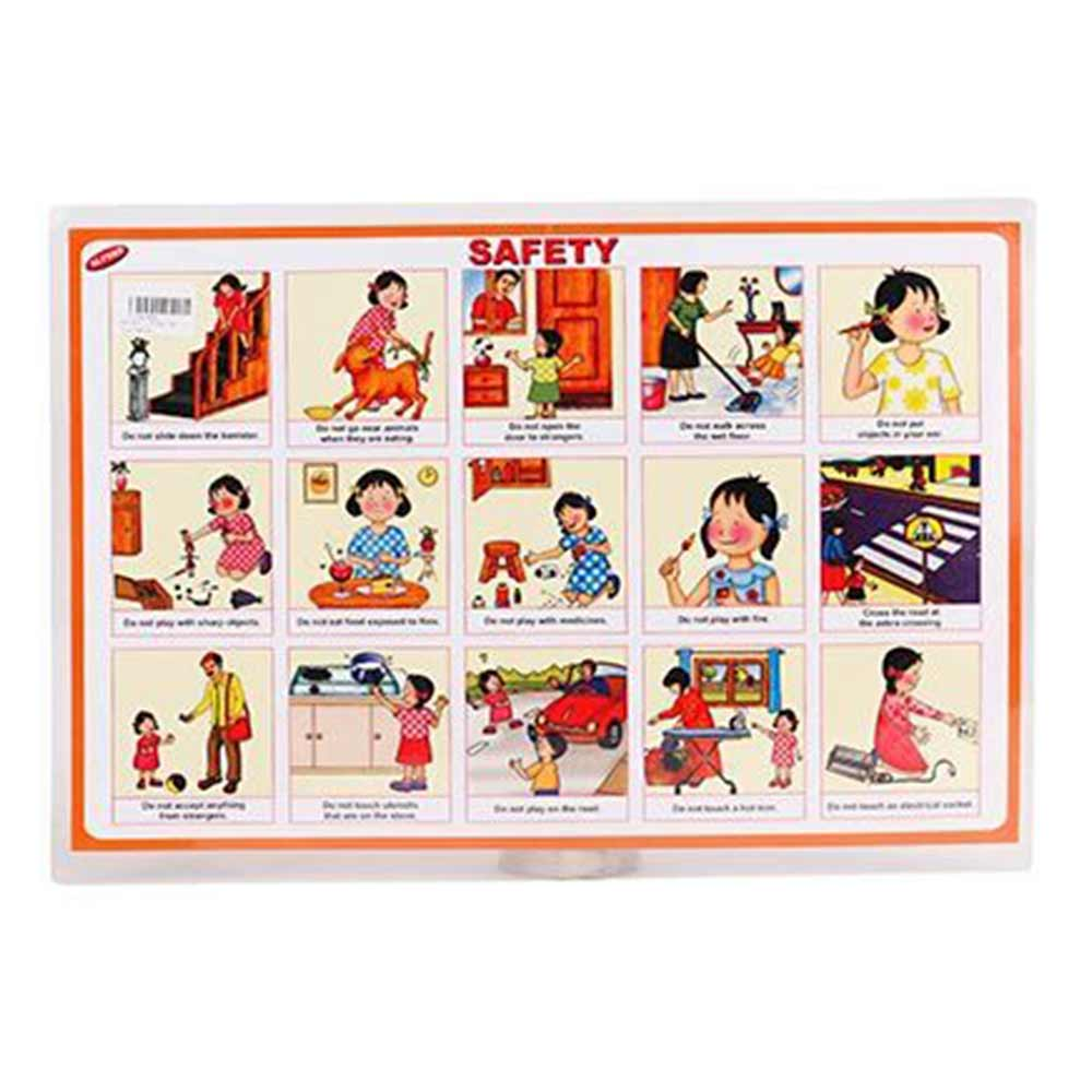 Alpaks Table Mat With Good Manners & Safety Print