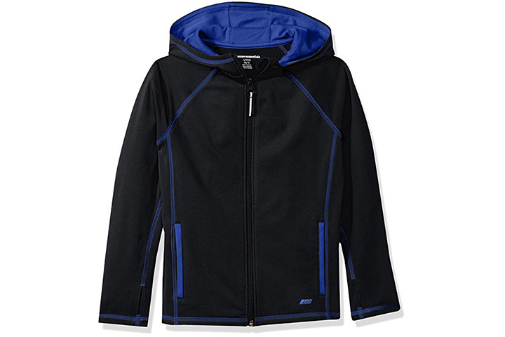Amazon Essentials Boys Full-Zip Active Jacket