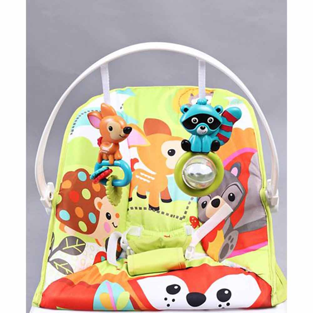 Baby Bouncer With Hanging Toys Animal Print-4