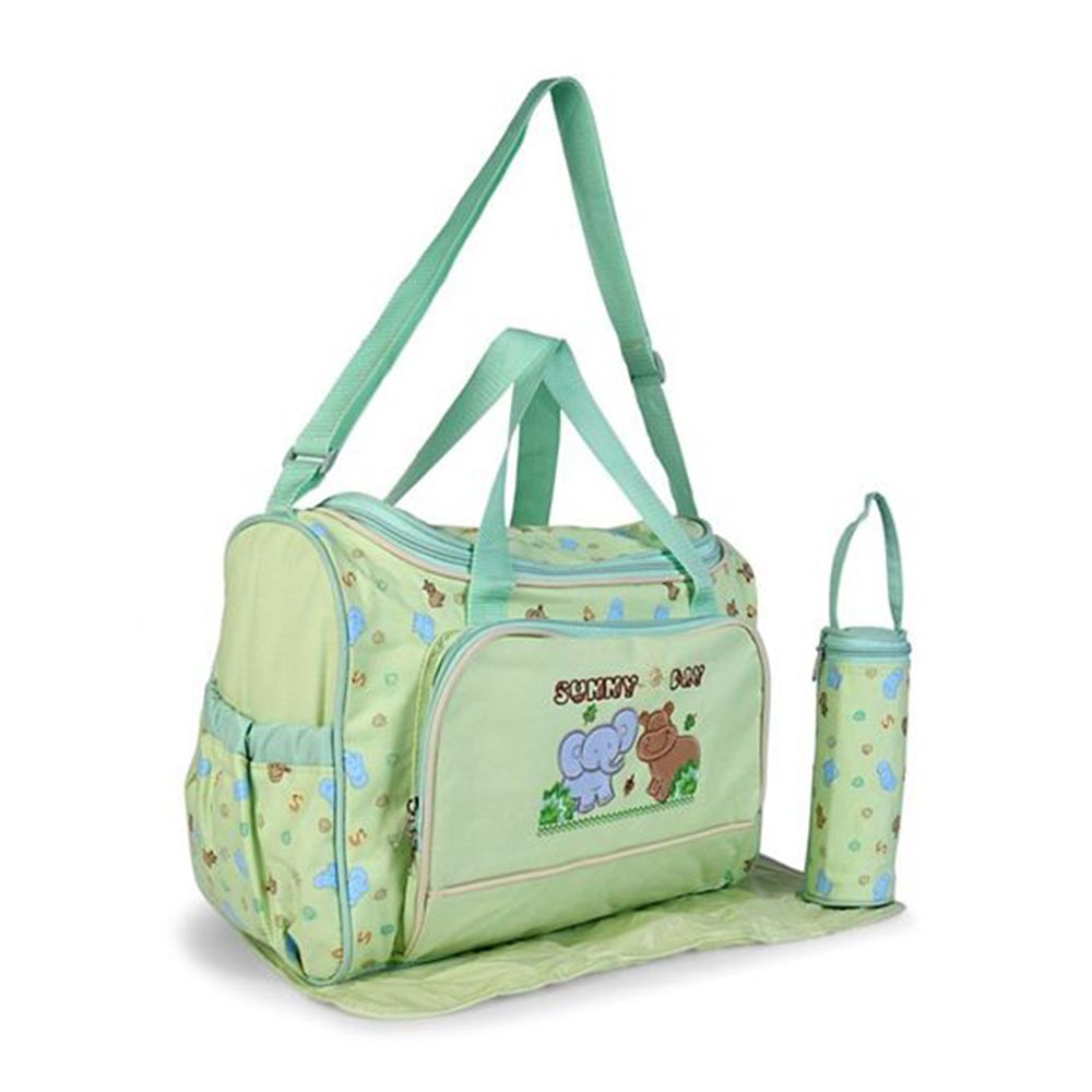 Baby Diaper Bag With Changing Mat Animal Patch