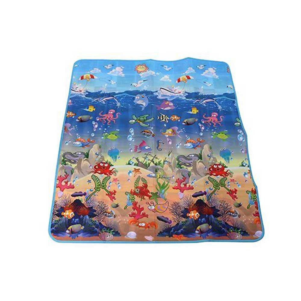 Baby Play Mat Alphabet With Sea Animals Print