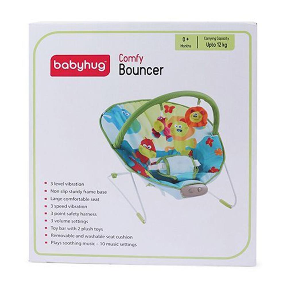 Babyhug Comfy Bouncer Babyhug Comfy Bouncer With Music & Calming Vibrations Animal Print-5
