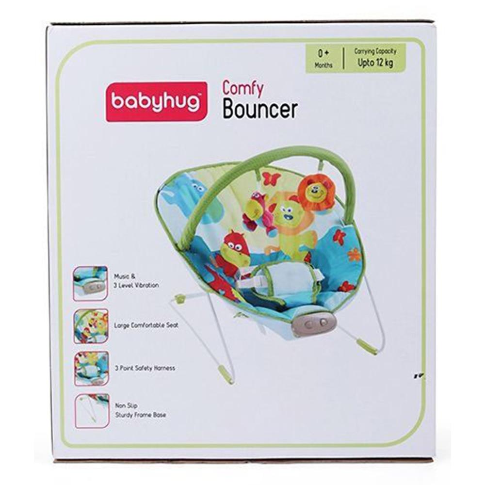 Babyhug Comfy Bouncer Babyhug Comfy Bouncer With Music & Calming Vibrations Animal Print-6