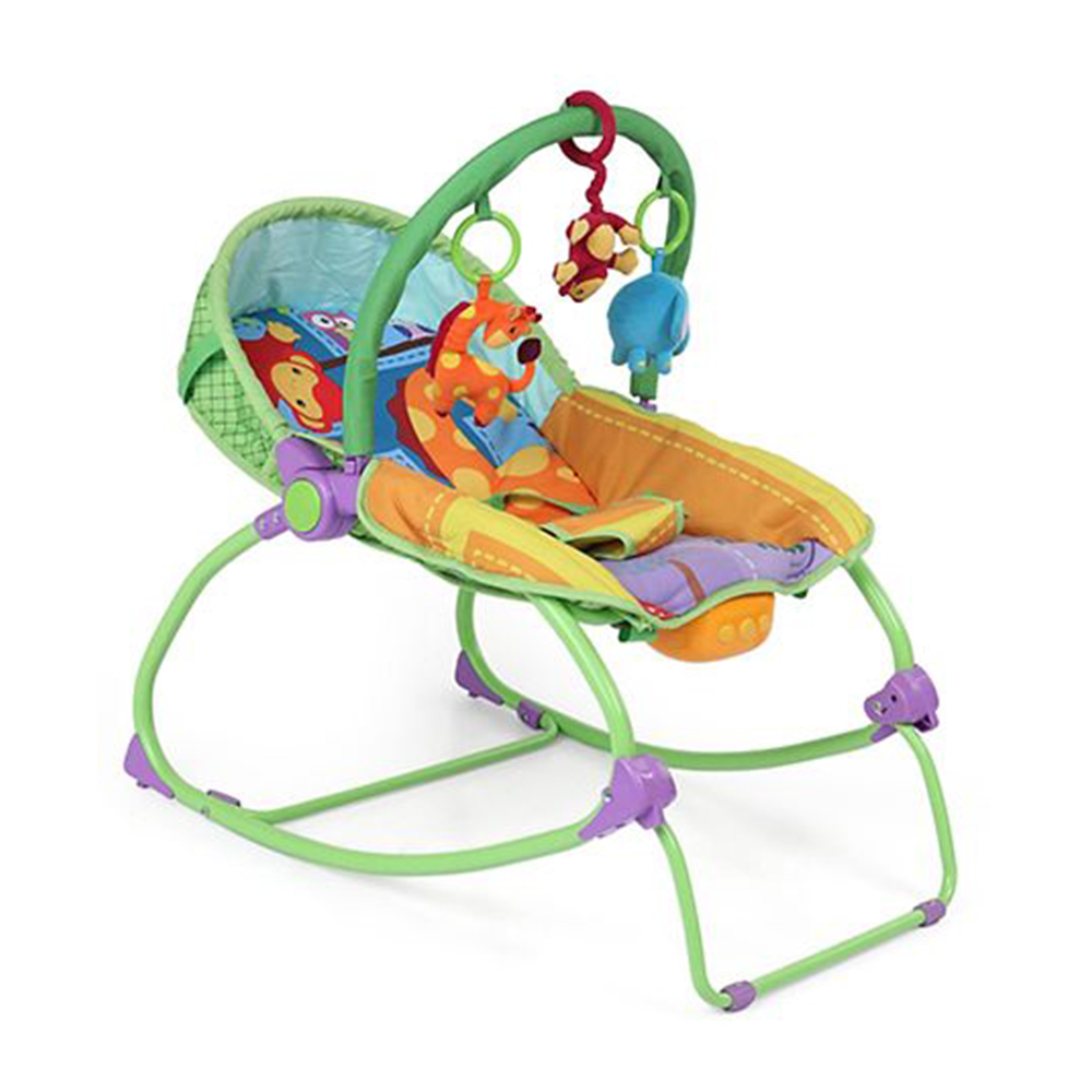 Babyhug Delight 3 In 1 Infant To Toddler Rocker With Safety Harness & Reclining Seat-1