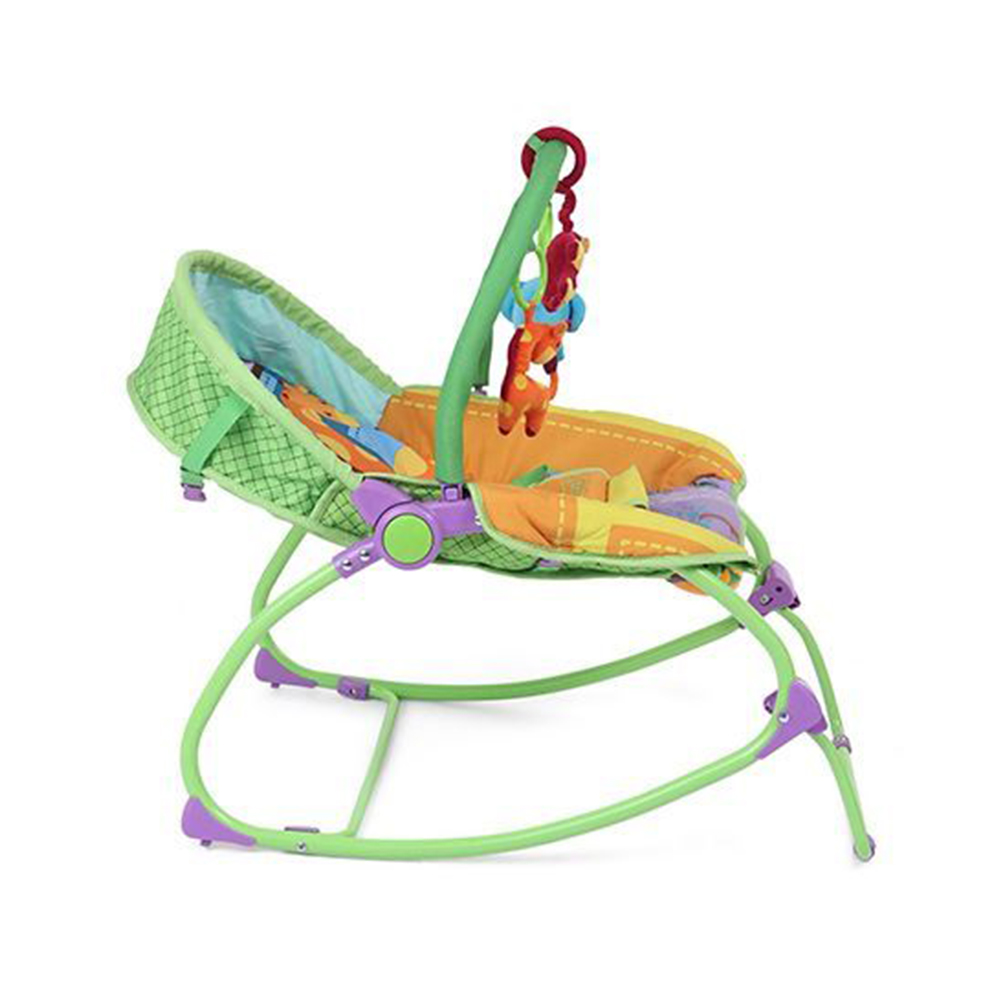 Babyhug Delight 3 In 1 Infant To Toddler Rocker With Safety Harness & Reclining Seat-2