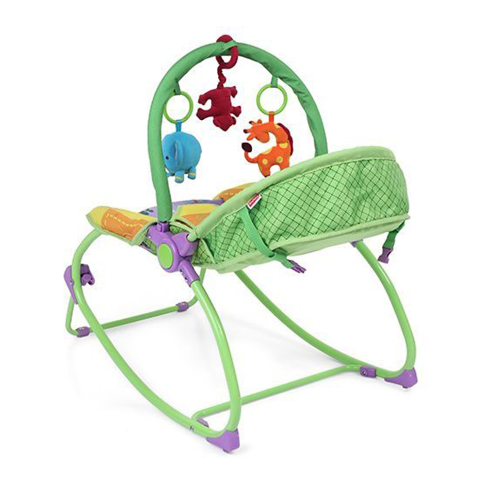 Babyhug Delight 3 In 1 Infant To Toddler Rocker With Safety Harness & Reclining Seat-3