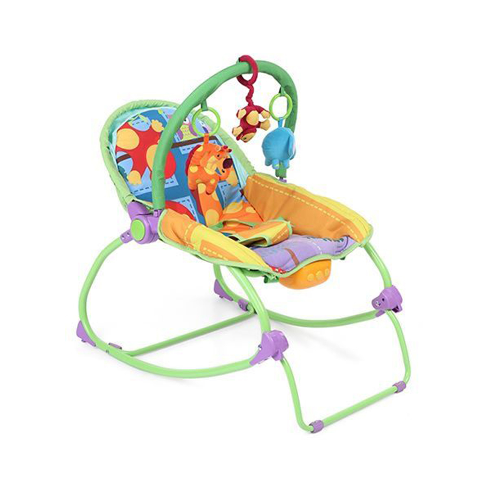 Babyhug Delight 3 In 1 Infant To Toddler Rocker With Safety Harness & Reclining Seat-6