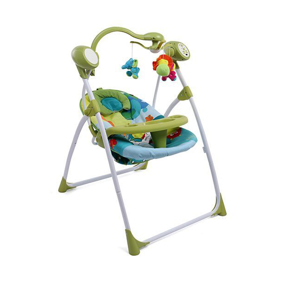 Babyhug Gaiety Electronic Swing With Timer & 5 Point Safety Harness-1