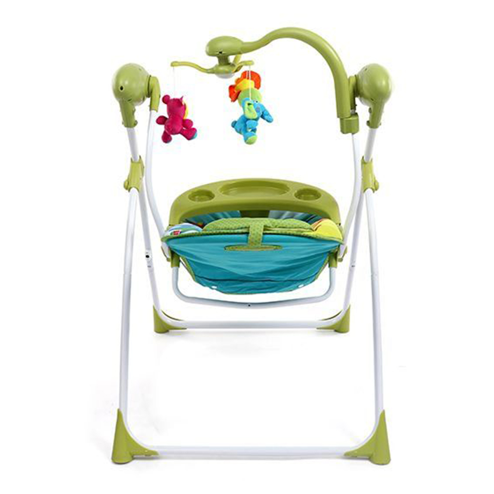 Babyhug Gaiety Electronic Swing With Timer & 5 Point Safety Harness-5