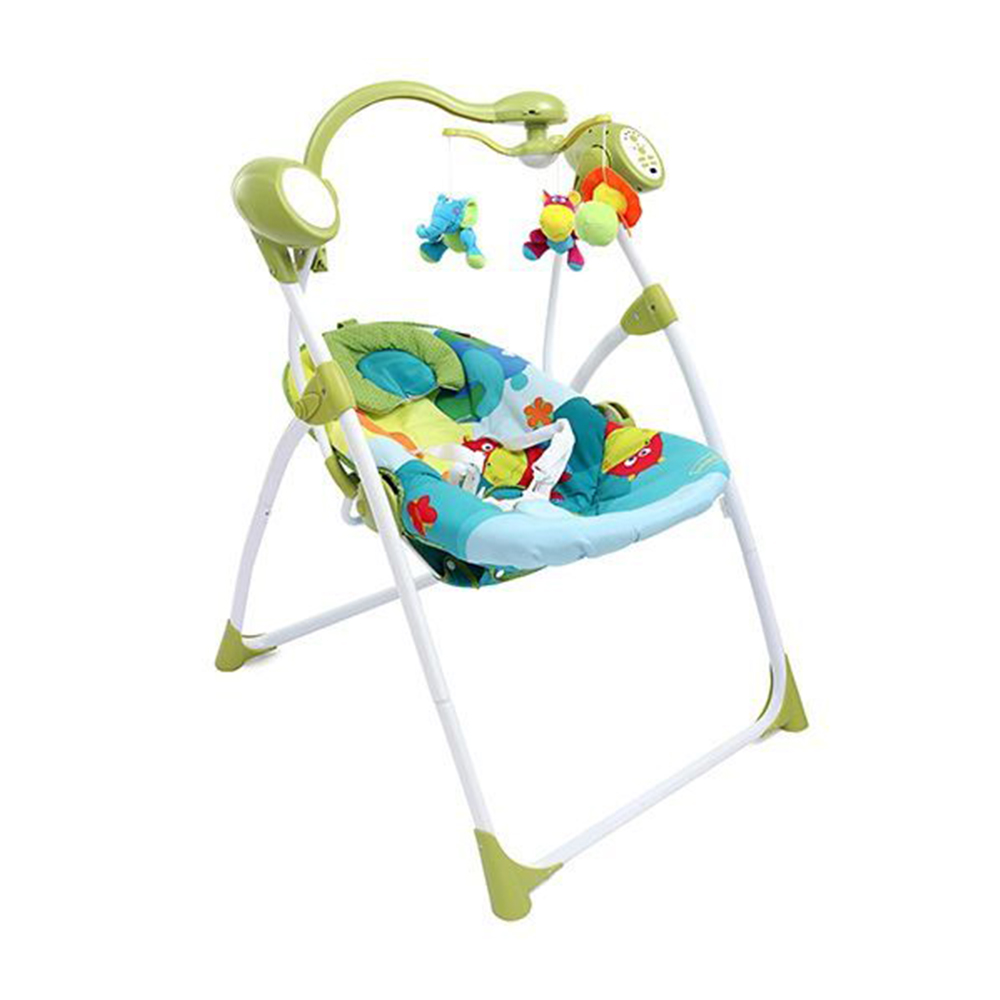 Babyhug Gaiety Electronic Swing With Timer & 5 Point Safety Harness-6