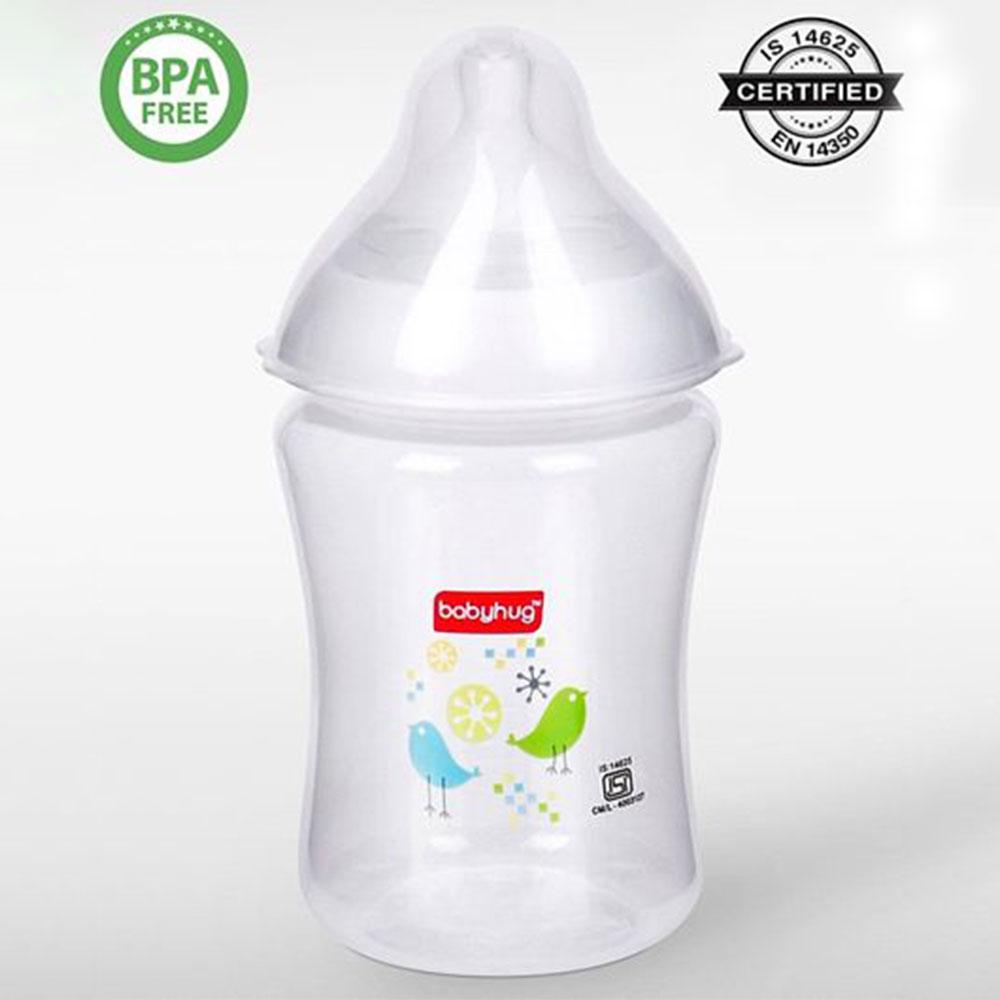 Babyhug Wide Neck Polypropylene Anti- Colic Feeding Bottle