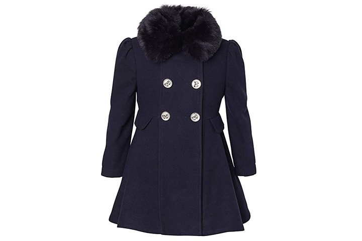 Cremson Wool Blend Winter Dress Pea Coat