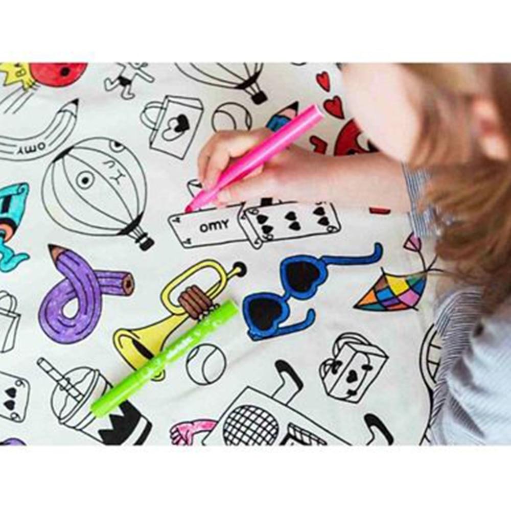 Nee & Wee 2 in 1 DIY Playmat Cum Drawstring Toy Storage Bag Doodle Print-4